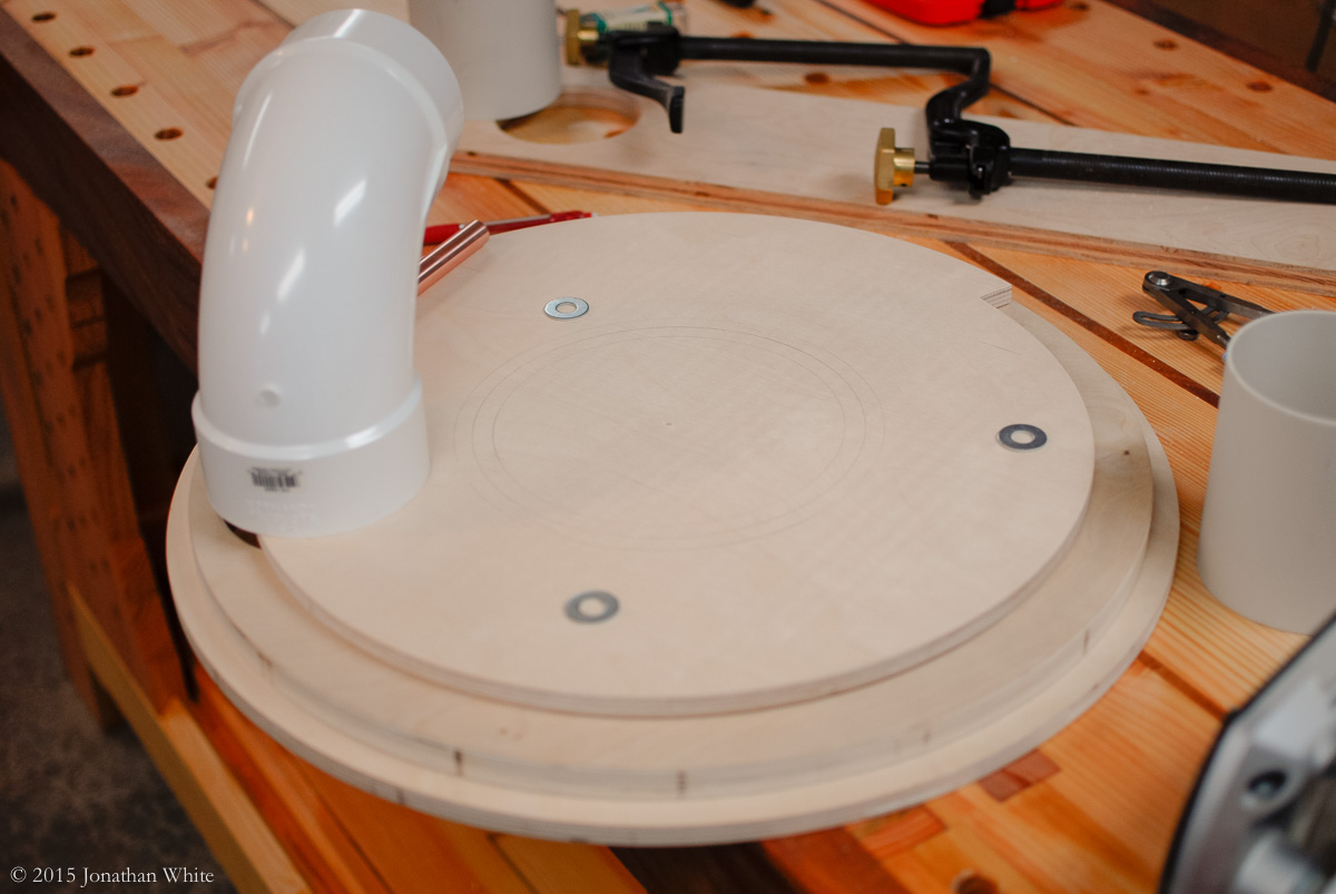The third piece of plywood is the actual baffle.