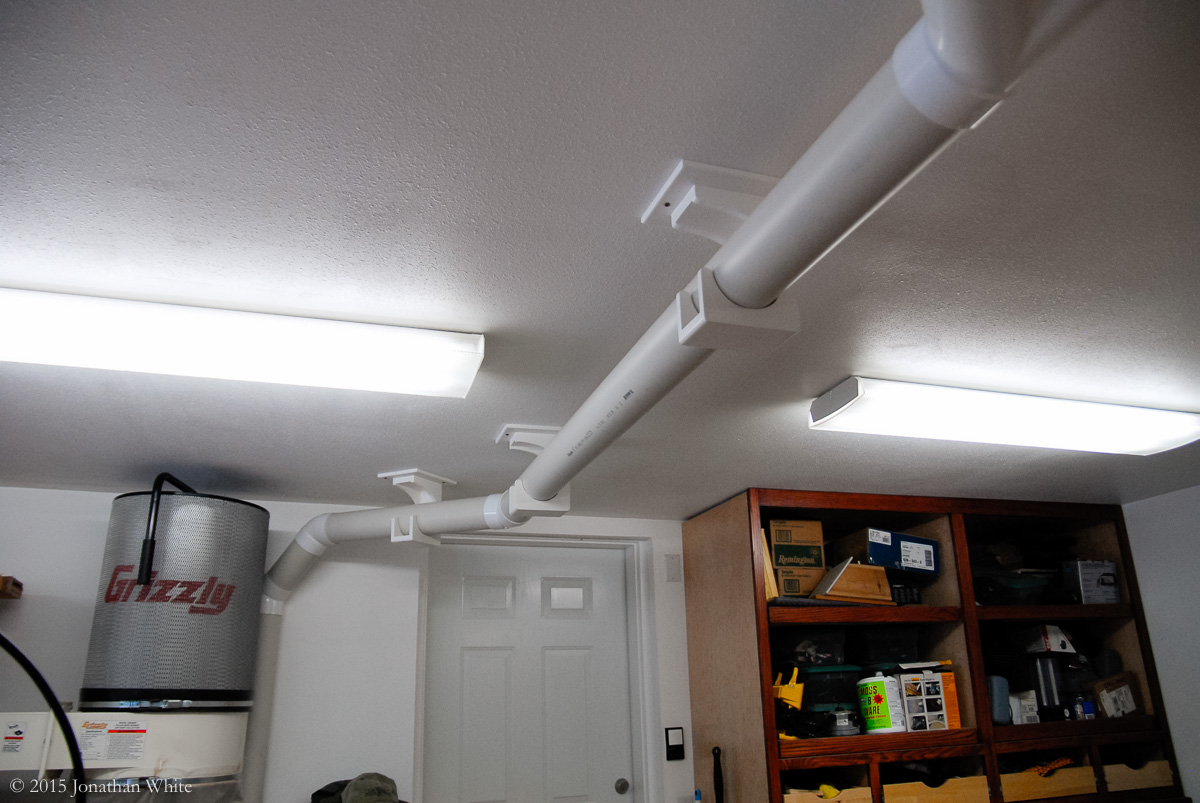 How To Make Brackets To Hang Pvc Pipe For Dust Collection